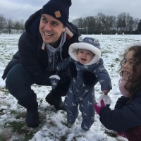 Honest Motherhood: Baby's First Snow Fall
